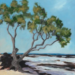 Beach Heliotrope - oil painting by Mary Spears