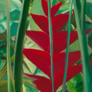 Red Heliconia - oil on canvas by Hawaii artist Mary Spears